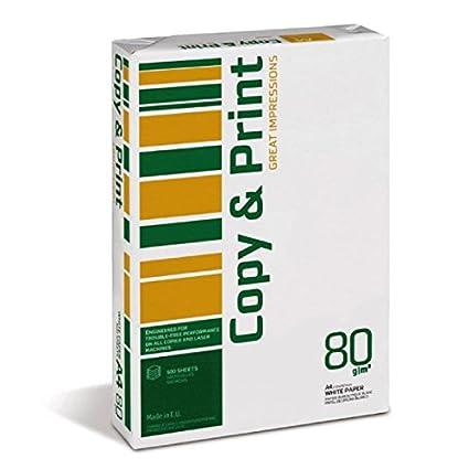 Caja de 5 paquetes Papel DinA4 Copy&Print 80gr 500 Hojas - Papel ...