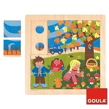Goula Puzzle otoño piezas de madera Diset