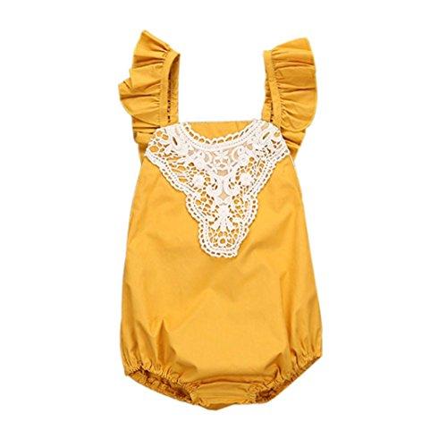 Mono Bebé, Amlaiworld Ropa para bebés recién nacido ropa para bebés infantil trajes sunsuit 0-24 Mes Amarillo