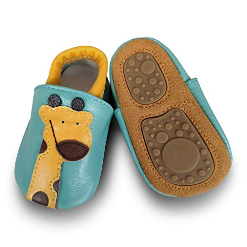 Infant Baby Soft Soles Leather Shoes Toddler Boys Girls Pre Walker Shoes Crawling Slippers (Best Shoes For Crawlers)