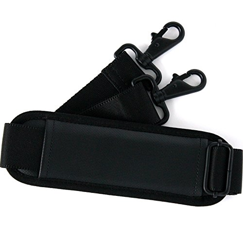 Burnoaa Real Heavy Duty Replacement Adjustable Shoulder Strap/Pad BACS-XL-MBK for (Computer Bag Strap)