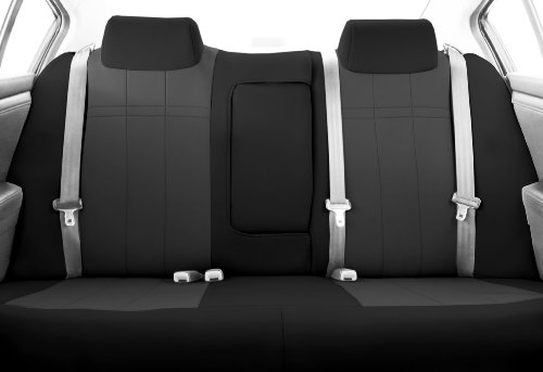 CalTrend Rear Row 40/60 Split Bench Custom Fit Seat Cover for Select Kia Optima Models - Neoprene (Charcoal Insert with Black Trim)