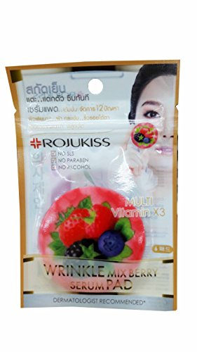 3 packs of ROJUKISS Wrinkle Mix Berry Serum Pads, made from naturally pure cotton with organic Mix Berry extracts. No SLS, No paraben, No alcohol. (15 ml/ 1 pack), (6 - Fair Arden Stores