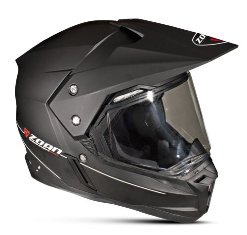 Zoan Synchrony Flat Matte Electric Shield Dual Sport Snowmobile Helmet Medium