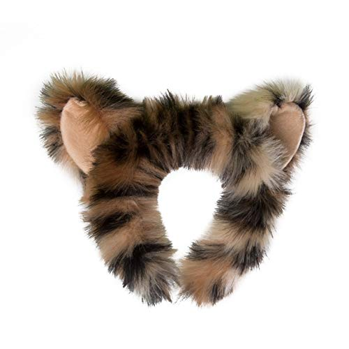 Wildlife Tree Plush Snow Leopard Ears Headband Accessory for Snow Leopard Costume, Cosplay or Safari Party Costumes