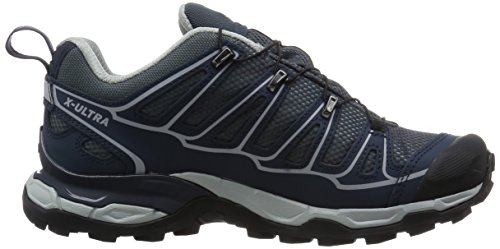 SalomonX Ultra 2 GTX - zapatillas de trekking y senderismo de media caña Mujer Gris (Grey Denim /         Deep Blue /         Melon Bloom)