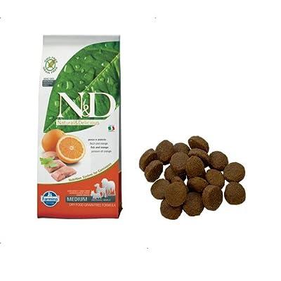 Farmina Natural And Delicious Grain-Free Formula Dry Dog Food, 26.5-Pound, Wild Herring