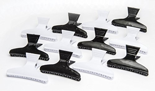 Diane Large butterfly clamps, black and white, 12 pack, D13 by Diane (Image #6)
