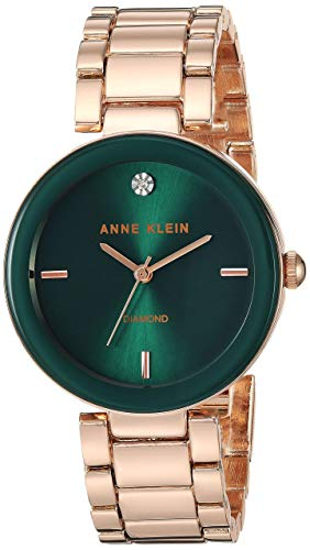 Anne Klein Women's AK/1362GNRG Quartz Metal and Alloy Rose Gold-Toned Dress Watch from Anne Klein