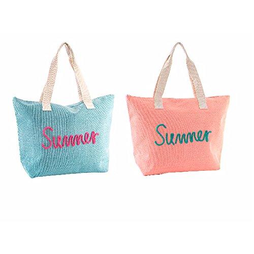Bolso di Playa con ASA Summer Dos colores Hogar Y más–Rosa