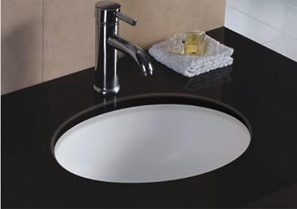 Wells Oval 17 X 14 Ceramic Undermount Bathroom Sink Vanity White