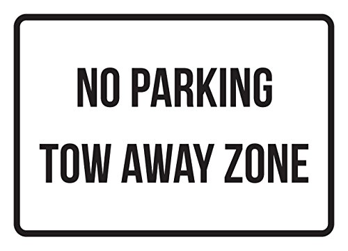 No Parking Tow Away Zone Business Safety Traffic Signs Black - 7.5x10.5 - Metal by iCandy Products Inc