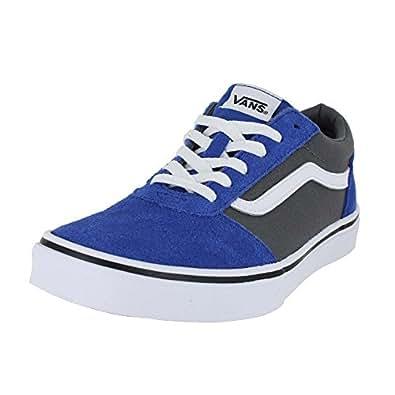 Vans kids ward lo canvas shoes 2 tone blue for Vans amazon
