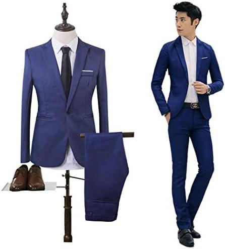 スーツ メンズ 一つボタン 上下セット 男 ビジネススーツ セットアップ シンプル 2点セット (ジャケット・パンツ) オールシーズン スリムタイプ フォーマル 通勤 ビジネス