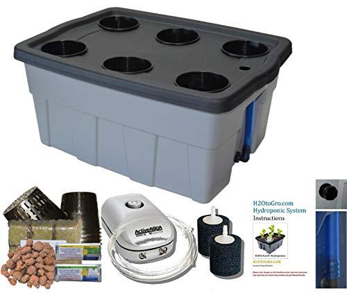 "New DWC Hydroponic BUBBLER Kit # 8 20"" x 15"", 6 site by H2OtoGro Hydroponic System 14"