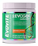 Evogen Evovite Powder   Natural Vitamin & Mineral Powder with Chelated Minerals, Beta-Alanine, and Curcumin, Artificial Flavor, Color, and Sweetener Free   30 Servings   Natural Orange Mango Review