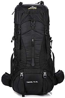 サイクリングバックパック バックパッキング、ハイキング、キャンプのための75L高容量防水高性能バックパック (Color : Black, Size : 77*31*27cm)