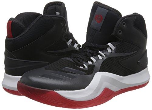 adidas D Rose Dominate Iv, Chaussures de Basketball Homme, Noir (Negbas/Neguti/Ftwbla), 40 1/9 EU