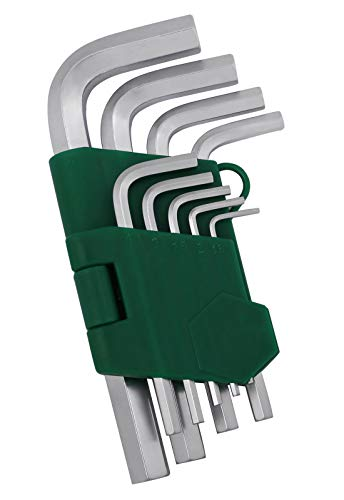 Hex Key Set, Kattool 9-Piece Allen Key Wrench Set, Short Arm Metric Hex L-key Set Chrome Vanadium Steel Allen Key Set, 1.5mm-10mm ()