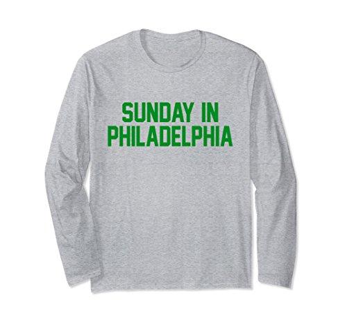 Philadelphia Eagles Long Sleeve Game (Unisex Sunday in Philadelphia Football Gameday Longsleeve Shirt Large Heather Grey)