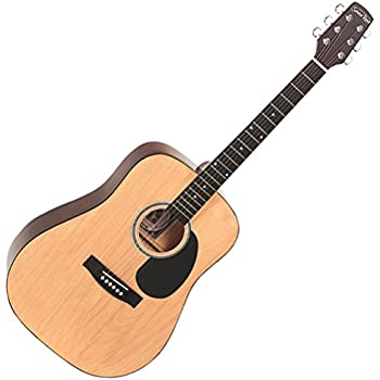 santa rosa 6 k119 36 standard sized folk steel string guitar natural finish right. Black Bedroom Furniture Sets. Home Design Ideas