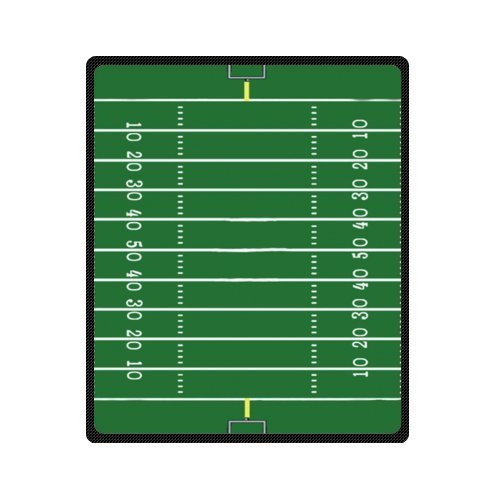 amazing green football field pattern Fleece Blankets 50 x 60 inches (Medium) (Fleece Blanket Football)