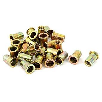 eDealMax Brass Hardware Solid moleteada Inserts Parts Embedded pulgar 25pcs tuerca M8: Amazon.com: Industrial & Scientific