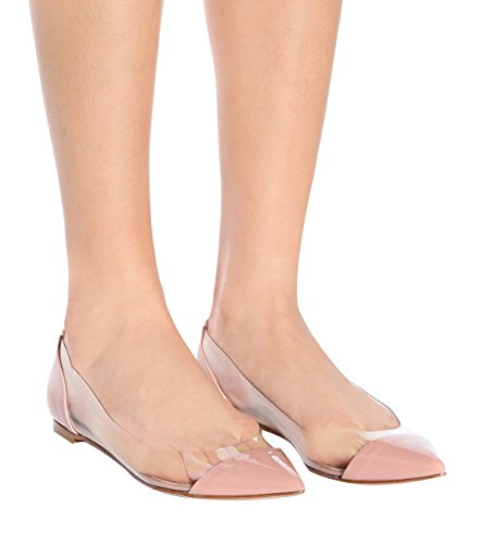 Confortables Transparent Sexy Femme Plates Chaussures Beige Ballerine Mocassins Sandales Femmes Ubeauty gFqA8Ywx