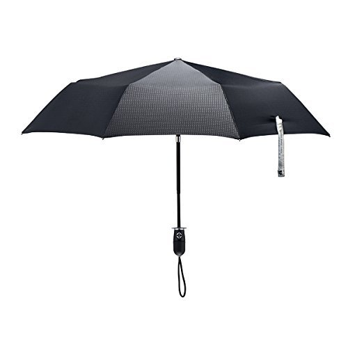 ShedRain Stratus Collection Dualmatic Auto Open/Auto Close Compact Umbrella - Matte Black TPR Grip