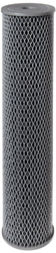"""Pentek NCP-20BB Pleated Carbon-Impregnated Polyester Filter Cartridge, 20"""" x 4-1/2"""", 10 Microns"""