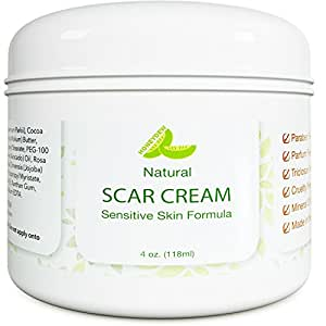 Best Scar Cream for Face - Vitamin E Oil for Skin After Surgery - Stretch Mark Remover for Men & Women - Anti Aging Lotion - Acne Scar Removal for Old Scars on Body - Scar Treatment for Cuts