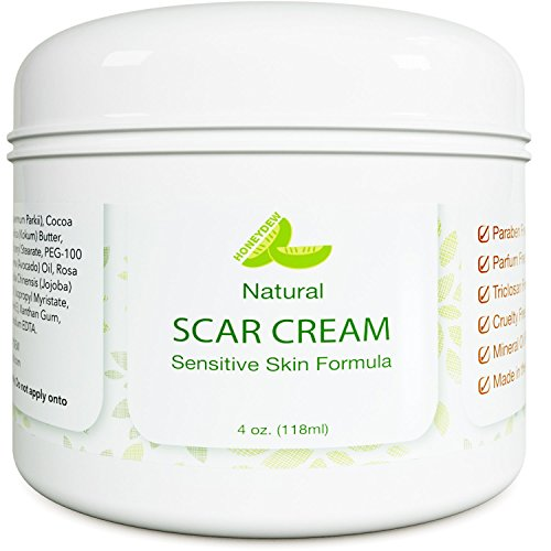 (Honeydew Best Scar Cream for Face - Vitamin E Oil for Skin After Surgery - Stretch Mark Remover for Men & Women - Anti Aging Lotion - Acne Scar Removal for Old Scars on Body - Scar Treatment for Cuts)