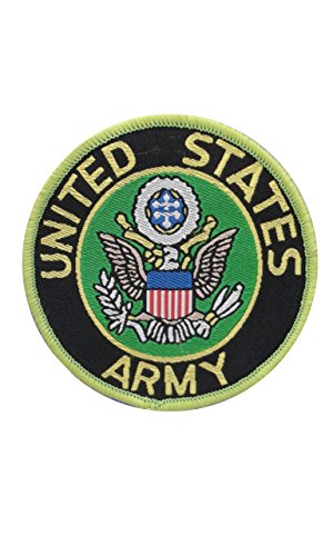 2 pieces US Army SEW ON Patch Fabric Applique Motif United States Armed Forces Military Decal dia. 2.4 inches (6 cm) (Us Army Corps Patch)