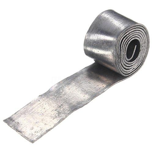 TOOGOO(R) Soft Lead Sheet Lead Roll Fishing Sinkers Clip Tackle, 1.0MM