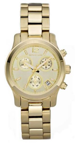 Michael Kors Gold-tone Stainless Steel Chronograph Ladies - Ladies Stainless Chronograph Steel
