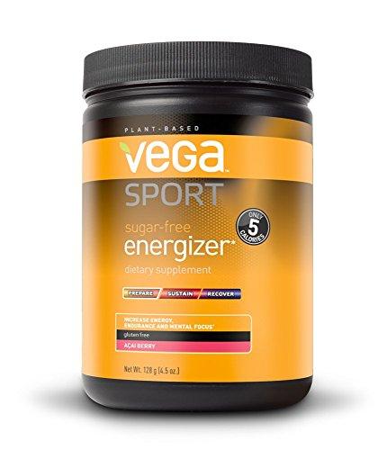 Vega Sport Pre-Workout Sugar-Free Energizer, Acai Berry, 4.5oz, 40 Servings