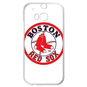 MLB&HTC One M8 White Boston Red Sox Gift Holiday Christmas Gifts cell phone cases clear phone cases protectivefashion cell phone cases HABC605585329