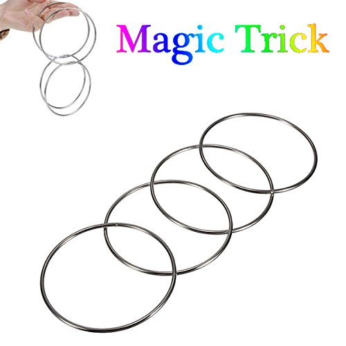 Magic Trick 4 Chinese Linking Rings Set For Kids Stage Magic Trick
