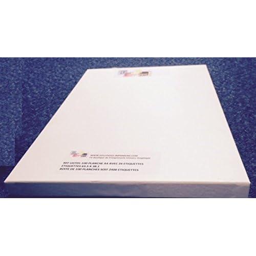 autocollant 1000 feuilles A4 papier adh/ésif blanc /Étiquette autocollante 210x297mm planche adh/ésive permanente de 1 etiquette