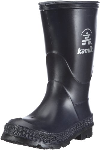 Kamik Stomp Rain Boot (Toddler/Little Kid/Big Kid),Navy/Black,1 M US Little Kid