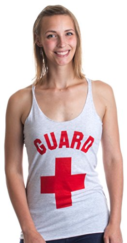 GUARD | White Professional Lifesaving Women's Racerback Tank Top