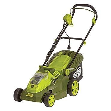 Sun Joe iON16LM-HYB 40V 4.0 Ah Hybrid Cordless or Electric Lawn Mower, 16