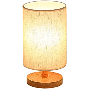 Wood Table Lamp, HQOON Bedside Table Lamps For Bedroom, Living Room,LED  Night Part 58