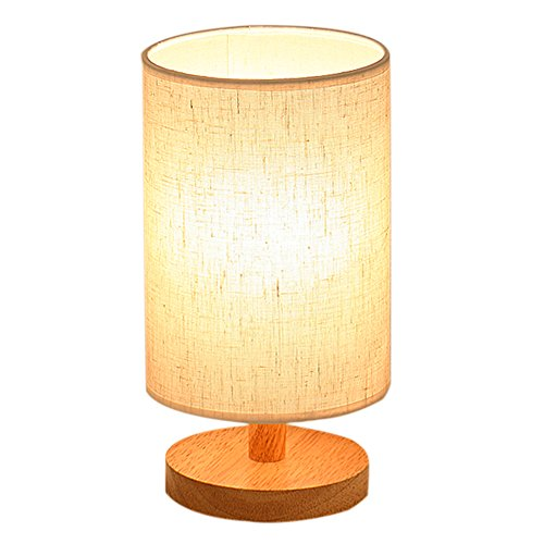 wood table lamp hqoon bedside table lamps for bedroom living room led night stand lights with. Black Bedroom Furniture Sets. Home Design Ideas