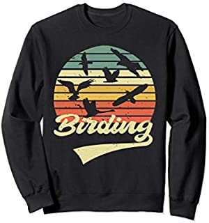 Birding Birdwatching Vintage Retro  Bird Watcher gift Sweatshirt T-shirt | Size S - 5XL