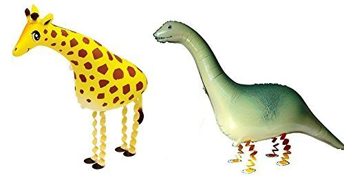 Ovee Lando Set of 2 walking animal Helium balloon pet air walkers, mixes pet party