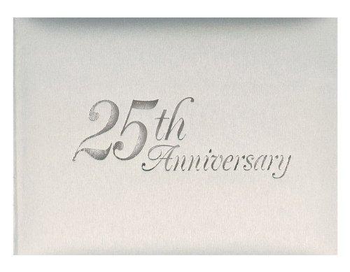 25th Anniversary Favors - 25th Wedding Anniversary : Silver 25th Anniversary Guest Book