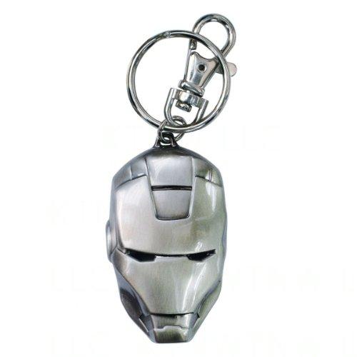 Helmet Logo Keychain (Iron Man Helmet Logo Marvel Comics Pewter Keychain)