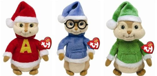 Image Unavailable. Image not available for. Color  TY Beanie Babies - Alvin    the Chipmunks Set ... a978189b7676