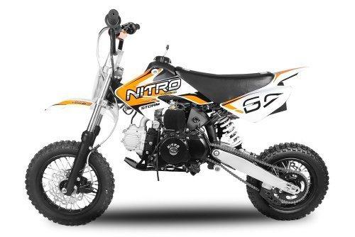 Dirtbike Storm 110cc 12/10 Automatik mit E-Start Crossbike Minibike Kinderbike (Grün)